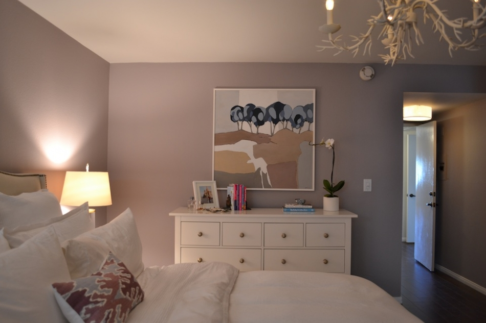 Chic for cheap julie chang s master bedroom Touch of grey benjamin moore